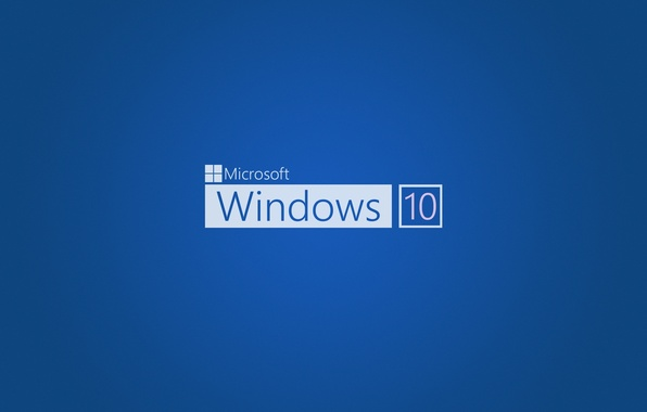 Picture blue, Windows 10, operating system