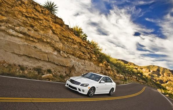 Picture road, machine, speed, mercedes, Mercedes, road, way