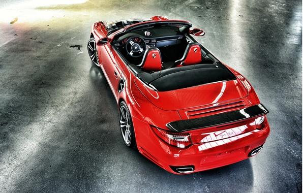 Picture red, 997, Porsche, turbo, red, carbon, convertible, Porsche, carbon, cabrio