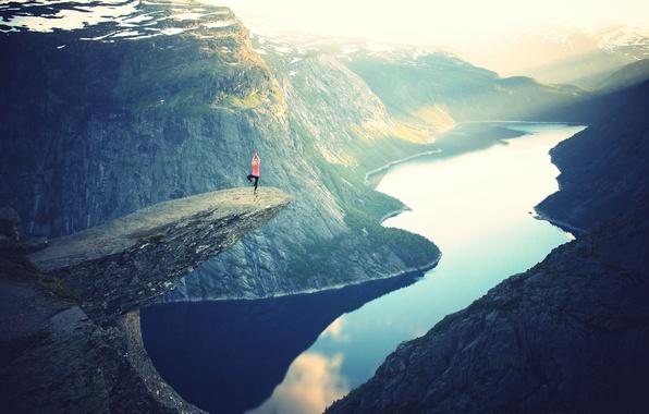 Picture rock, lake, photo, people, height, mountain, photographer, plumb, julia caesar