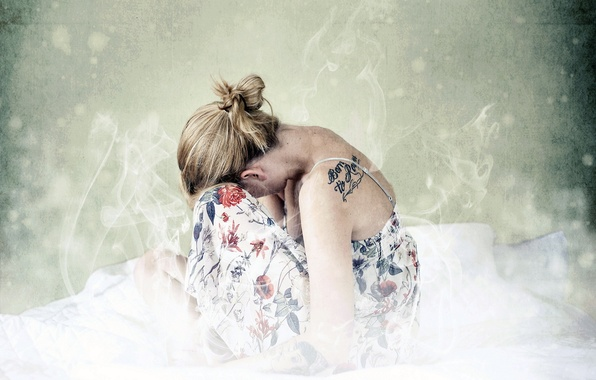 Picture girl, pose, style, tattoo