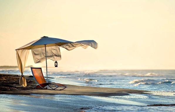 Picture sea, beach, summer, the sky, landscape, nature