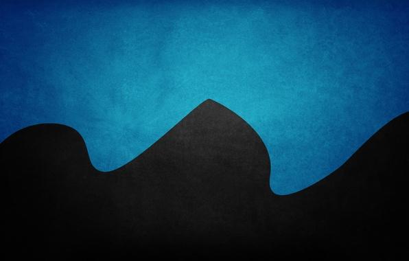 Picture wave, blue, texture