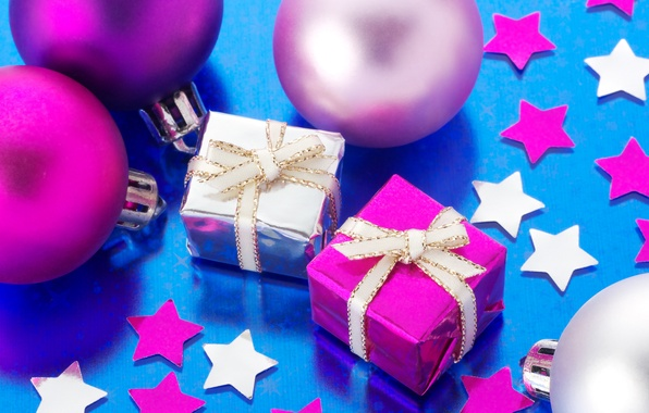 Picture stars, decoration, balls, gifts, New year, new year, balls, stars, Merry Christmas, decoration, Merry Christmas, …