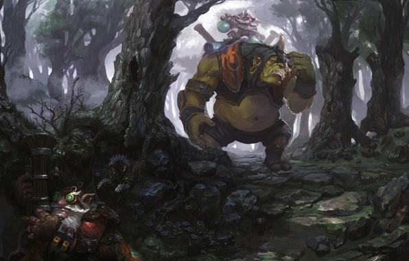 Wallpaper forest, art, searches, Dota 2, Sniper, Alchemist, Razzil  Darkbrew, Sharpe To Kardel images for desktop, section игры - download