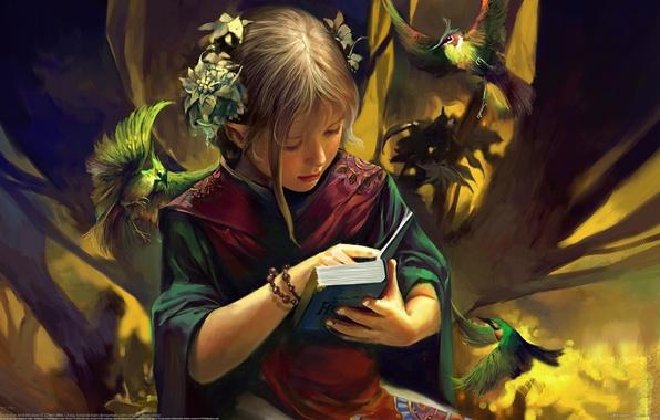 Picture childhood, fantasy, elf, tenderness, girl, trust