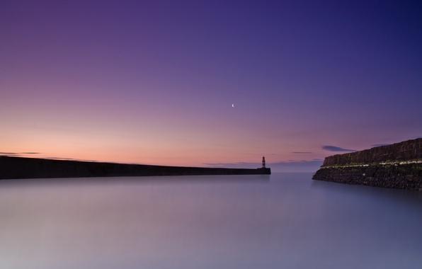 Picture sea, landscape, England, Seaham