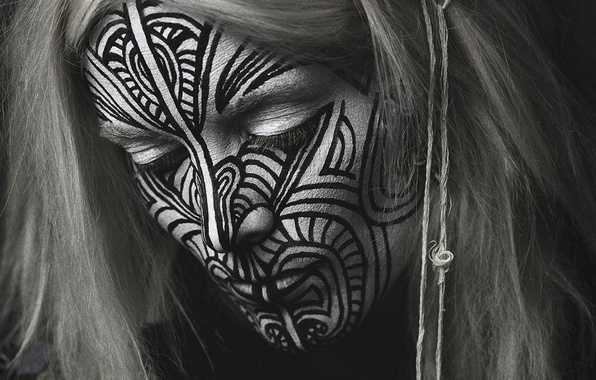 Picture girl, creative, Tattoo, ethnicity, Indian, Fever Ray