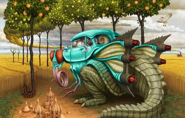 Picture Figure, Fly, Dinosaur, Car, Art