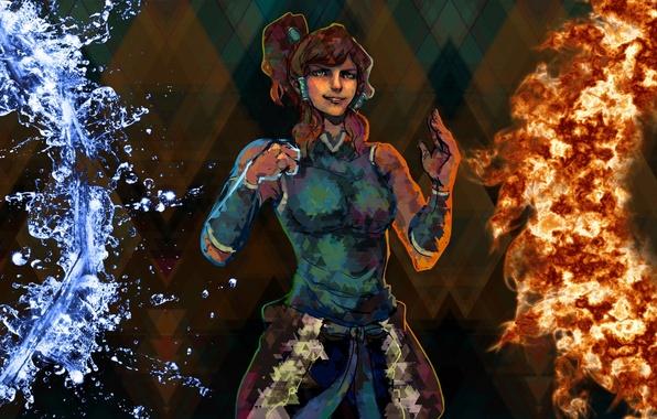 Picture water, fire, art, avatar, avatar, art, Korra, The Legend of Korra, Avatar: the Legend of …