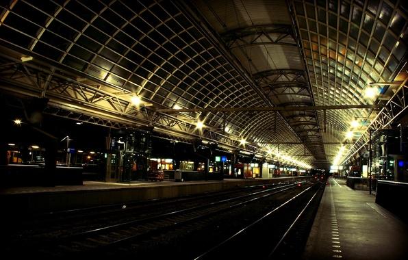 Picture Railways, station, train
