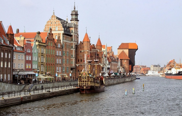 Picture ship, home, Poland, Gdansk