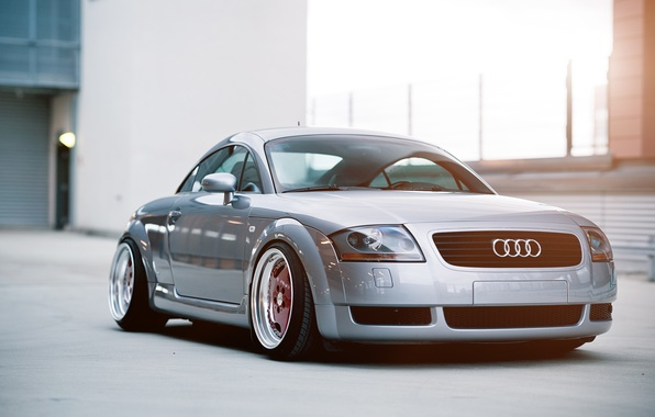Picture Audi, Audi, silver, stance