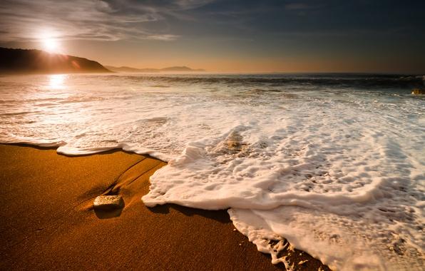 Picture sea, wave, the sky, foam, water, mountains, nature, rock, bubbles, stones, the ocean, rocks, element, …