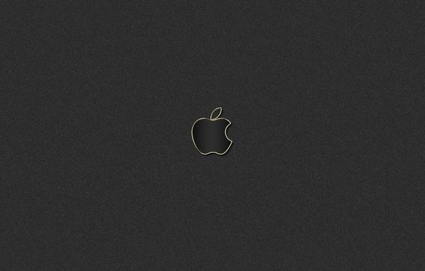 Picture gold, black, apple, logo, mac