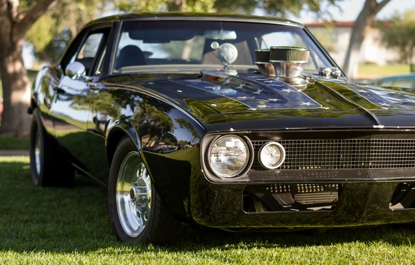 Picture retro, Chevrolet, Camaro, classic, the front, Muscle car