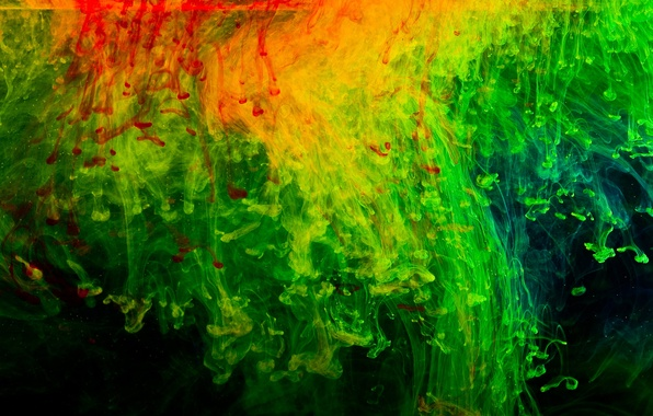 Picture red, abstraction, green, background, black, texture