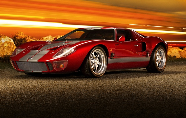 Picture red, supercar, ford gt40