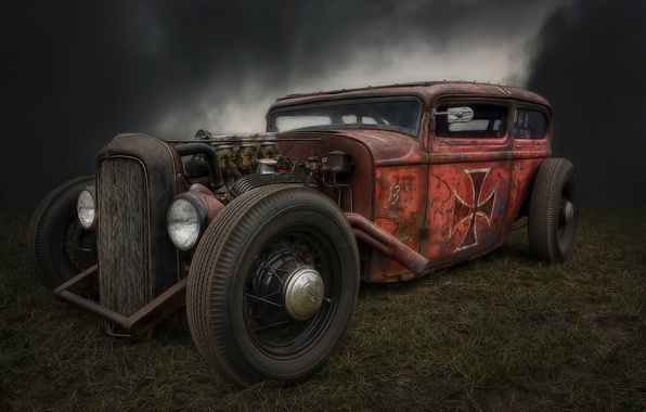 Picture retro, Hot Rod, Rat Rod, Hot rod