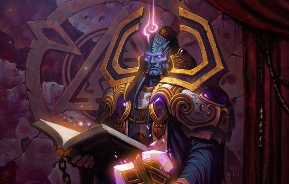 Picture Book, World of Warcraft, Blizzard, Paladin, Draenei