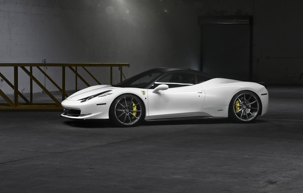 Picture white, Ferrari, supercar, white, supercar, Ferrari, 458, Italia