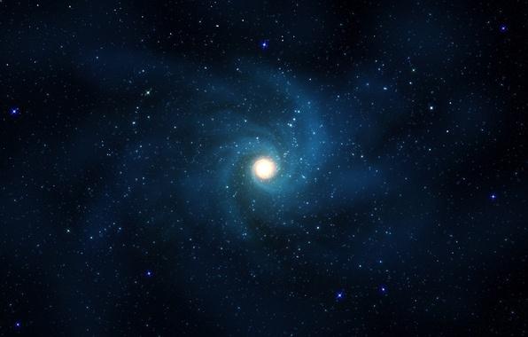 Picture stars, light, blue, galaxy