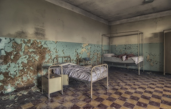 Picture bed, hospital, chamber