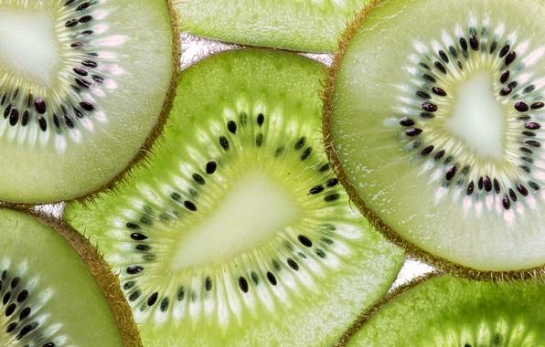 Picture macro, kiwi, slice