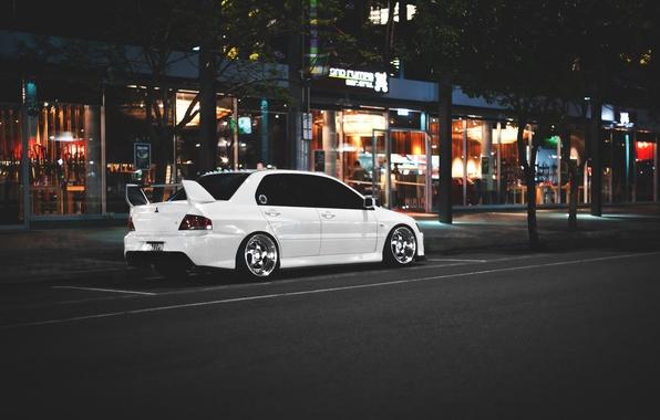Picture Mitsubishi, Lancer, white, Evolution, Lancer, JDM, Evolution, Mitsubishi
