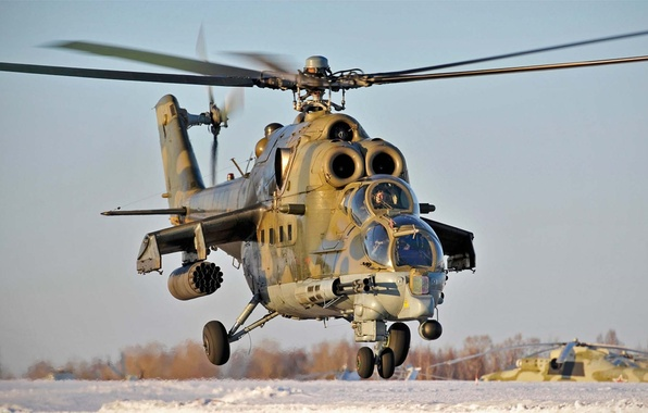 Picture helicopter, combat, BBC, OKB, Russian, Mi-24, Soviet, Of the Russian Federation., Mil, development, transport