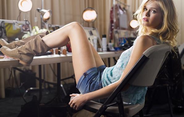 Picture look, girl, shorts, actress, blonde, legs, boots, beautiful, Sara Paxton, Sara Paxton