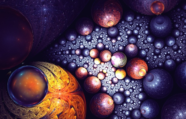 Picture art, fractal, galaxy