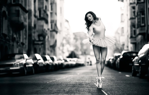 Picture machine, the city, street, dance, ballerina, pack, Pointe shoes