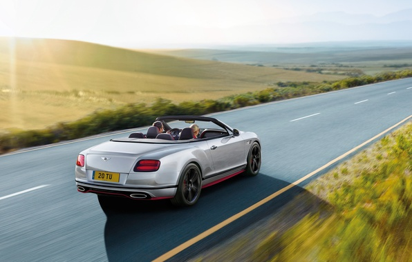 Picture road, car, machine, speed, Bentley, Continental, sports car, Speed, Black Edition