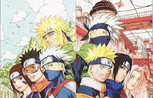 Picture Anime, naruto, sakura, sasuke, kakashi, rin, obito, minato