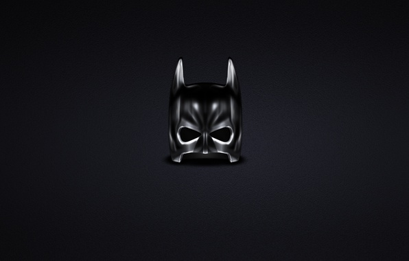 Picture dark, minimalism, mask, Batman, Batman, comic