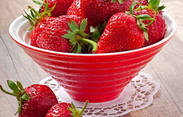 Picture berries, strawberry, bowl, strawberry, fresh berries