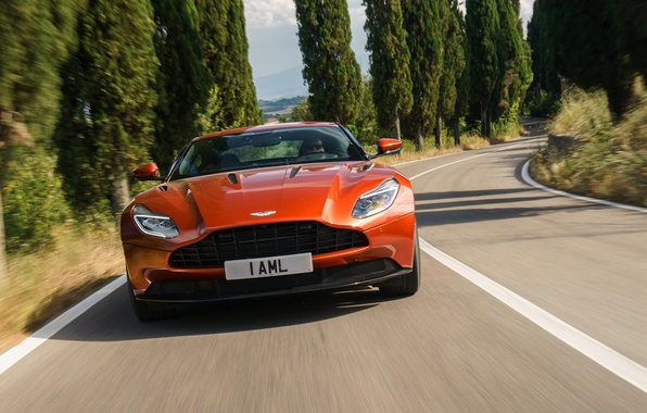 Picture road, Aston Martin, supercar, supercar, road, the front, DB11