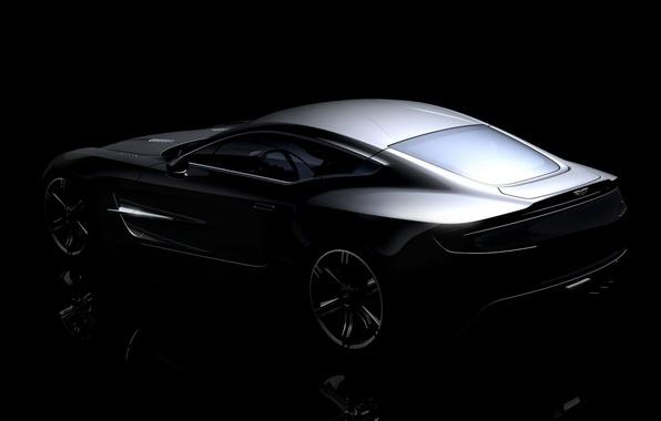 Picture Aston Martin, silver, ONE 77