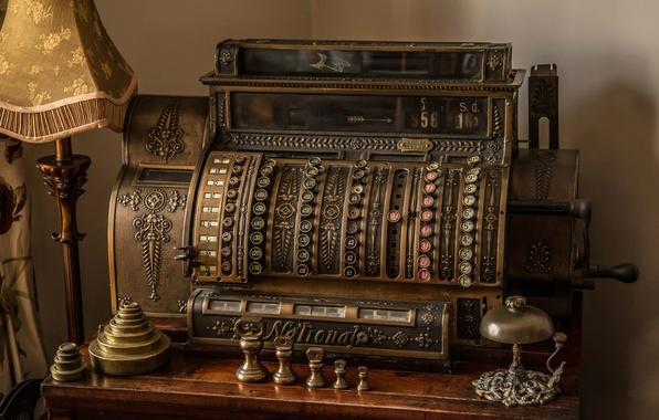 Picture old, retro, antiquity, cash, Cash post office