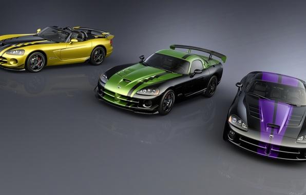 Picture car, Dodge, supercar, Viper, convertible, fast, Dodge SRT Viper GTS, aggressive design, bold lines, high-performance, …