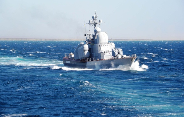 Picture sea, ship, boat, Navy, blue, beautiful, rocket, move.