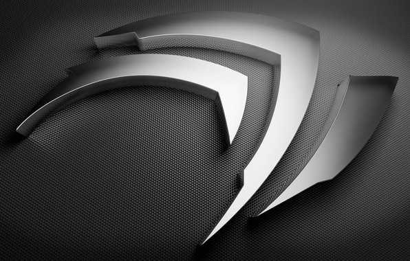 Picture silver, logo, Nvidia