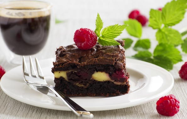 Picture the sweetness, mint, cakes, Malinka, mint, chocolate cake, chocolate cake, Malinka, sweet pastries