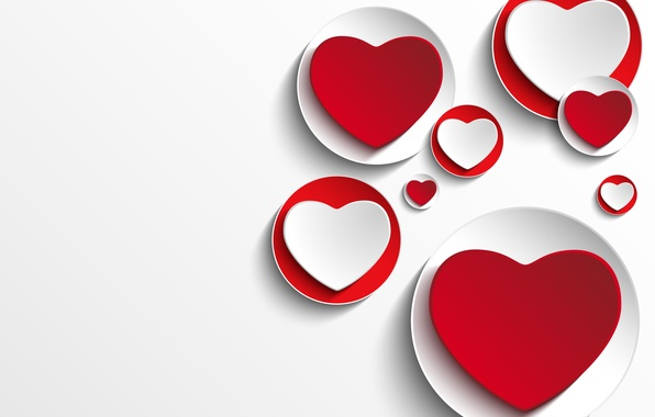 Photo Wallpaper Valentines, Background, Design, Hearts, Hearts, Love,  Romantic