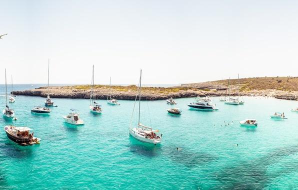Picture beach, the ocean, boat, island, Paradise, yacht, boat, panorama, sail, photo, photographer, Andrés Nieto Porras