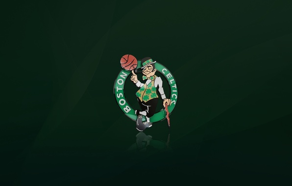 Picture Green, Basketball, Background, Logo, Boston, NBA, Boston Celtics