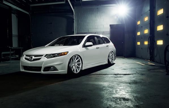 Picture tuning, white, white, Honda, Honda, vossen, Acura, Acura, Wagon, TSX