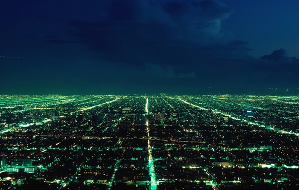 Picture night, the city, lights