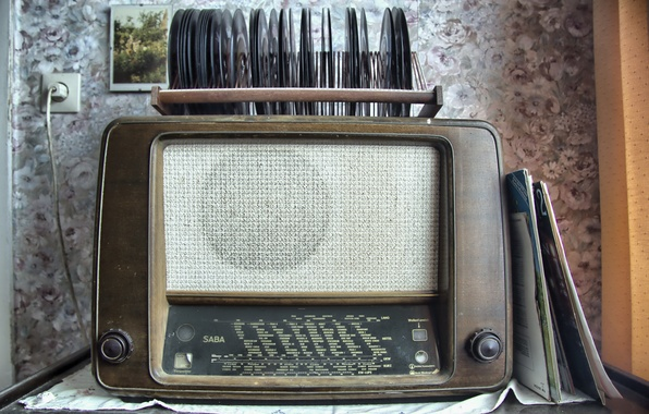 Picture radio, vinyl, receiver